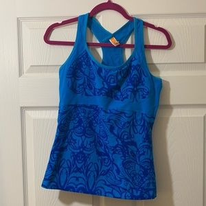 Lucy Blue Racerback Workout Tank